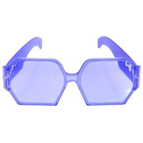 Óculos Quadrado Colorido Cristal para Festas