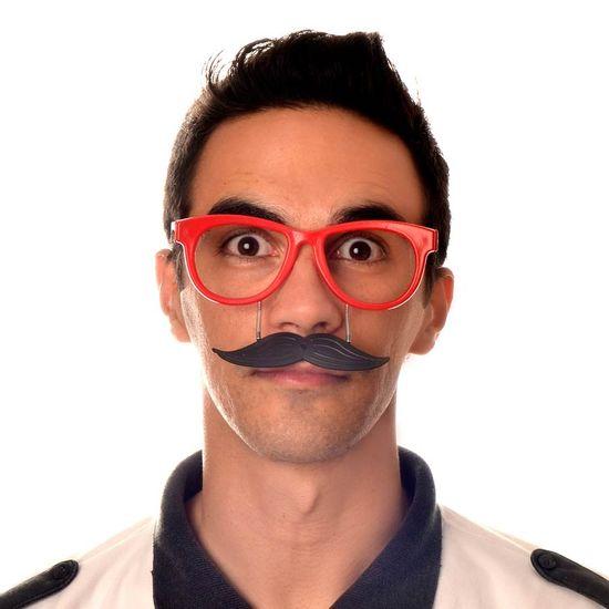 Óculos Sem Lentes com Bigode para Festas - 06 unidades