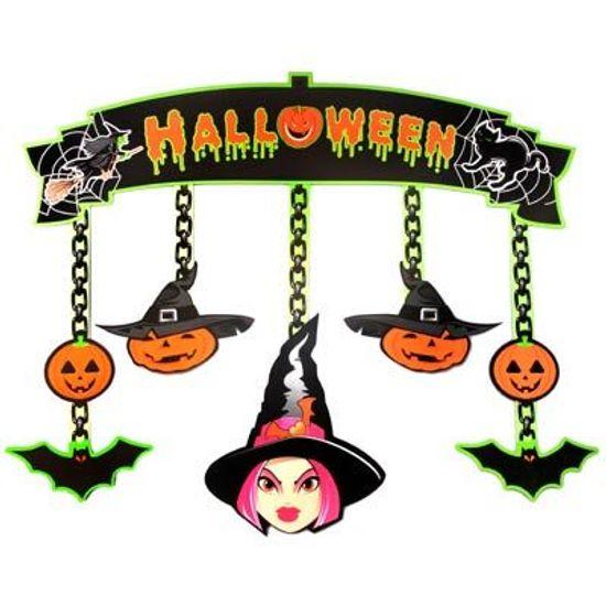 Móbile Cartonado Halloween - BRILHA NA LUZ NEGRA
