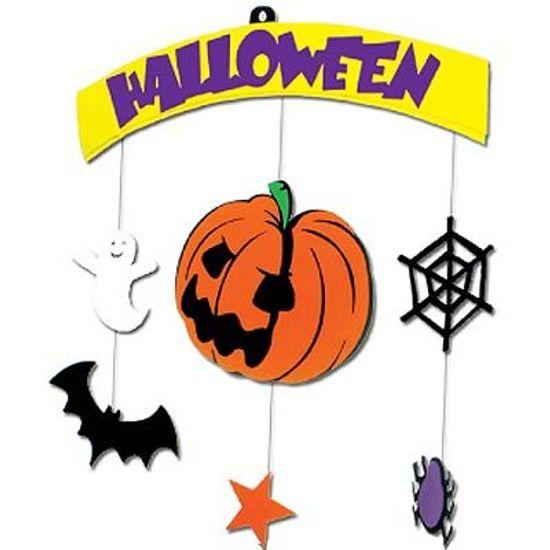 Móbile Abóbora Halloween em E.V.A (2711) - GRINTOY