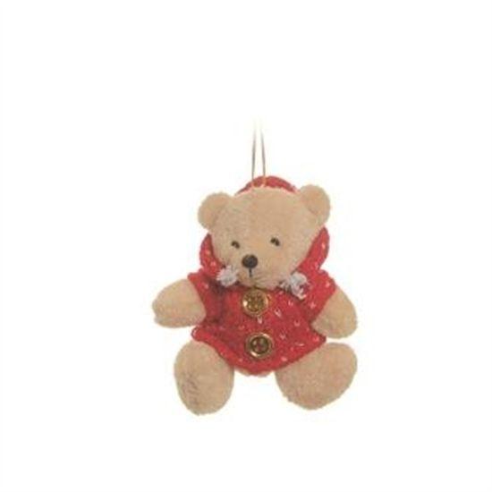 Urso Moletom Vermelho 5 cm (Patchwork Vermelho)  - 6 Unidades