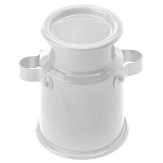 FL - Mini Leiteira em Alumínio 150ml com Alça Fixa - Branco
