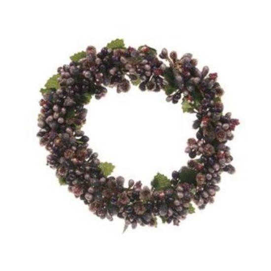 Mini Guirlanda de Natal Folhas Lilás e Roxo Tamanho G (Mini Guirlanda de Natal)  - 6 Unidades