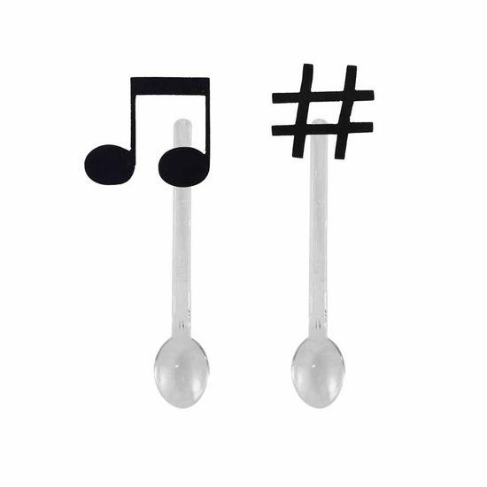 Mini Colherzinha Notas Musicais - 06 Unidades