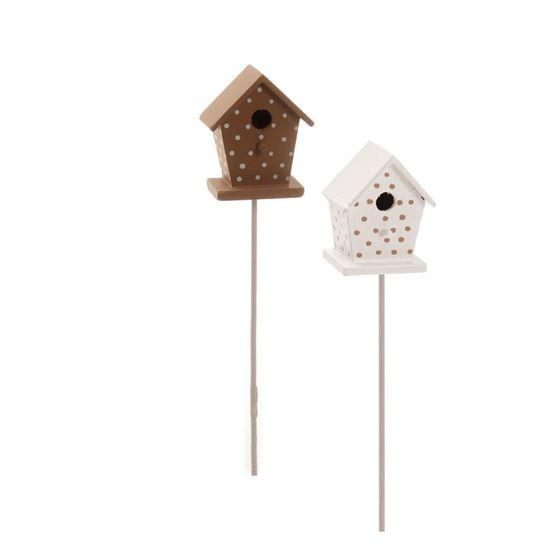 Cromus - Pick Mini Casa Pássaro Marrom ( Complementos ) - 1 Jogo com 4 Peças