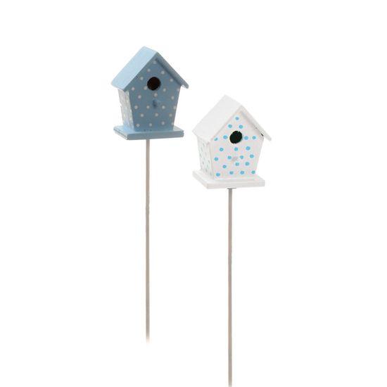 Cromus - Pick Mini Casa Pássaro Azul Claro ( Complementos ) - 1 Jogo com 4 Peças