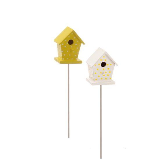 Cromus - Pick Mini Casa Pássaro Amarelo ( Complementos ) - 1 Jogo com 4 Peças