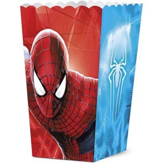 Festa Homem Aranha - Mini Caixa para Pipoca The Amazing Spider Man 2 - 08 unidades FL - Mini Caixa para Pipoca The Amazing Spider Man 2 - 08 unidades