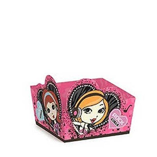 FL - Micro Forminha para Doces Cromus Rock Girls Pink - 24 unidades