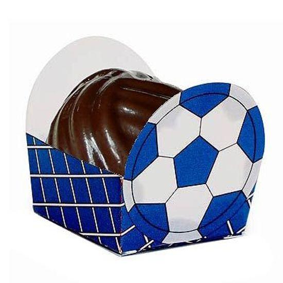 Cromus - Micro Forminha para Doces Bolinha de Futebol Azul 24 unidades