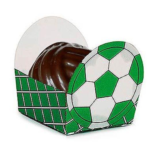 Micro Forminha para Doces Bolinha de Futebol Verde - 24 Un