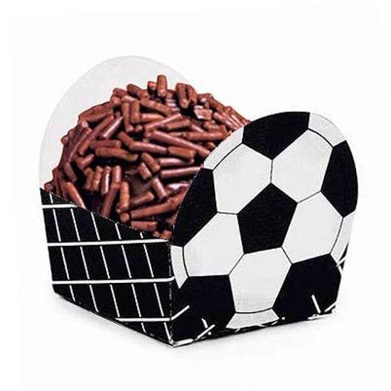 Cromus - Micro Forminha para Doces Bolinha de Futebol Preto 24 unidades