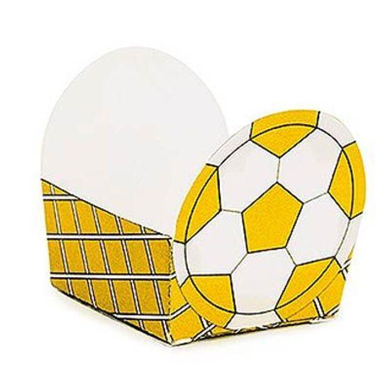 Micro Forminha para Doces Bolinha de Futebol Amarelo 24 Un