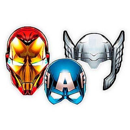 FL - Máscara Os Vingadores Animated - 06 unidades