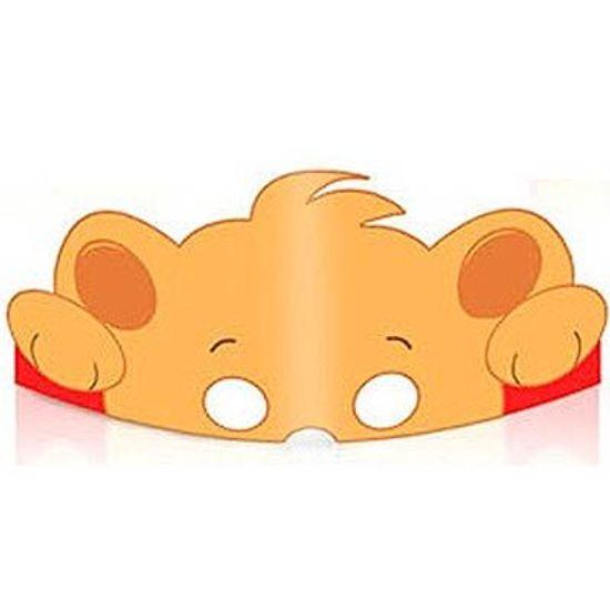 Festa Floresta - Cromus Floresta - Máscara Urso 08 unidades FL - Cromus Floresta - Máscara Urso 08 unidades
