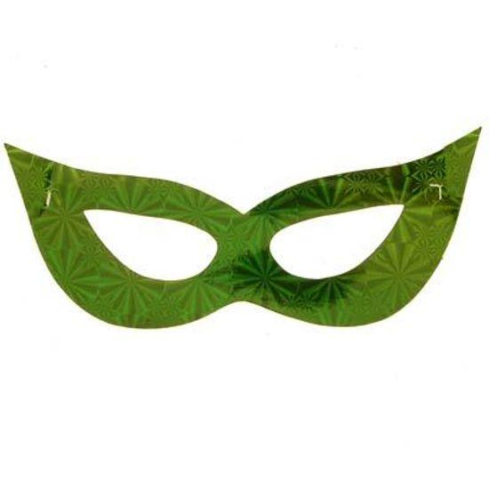 Máscara Cartonada Gatinha Holográfica - 12 Un