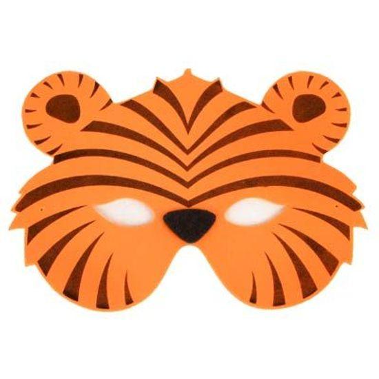 Festa Floresta - Máscara Animais em E.V.A - Tigrinho FL - Máscara Animais em E.V.A - Tigrinho