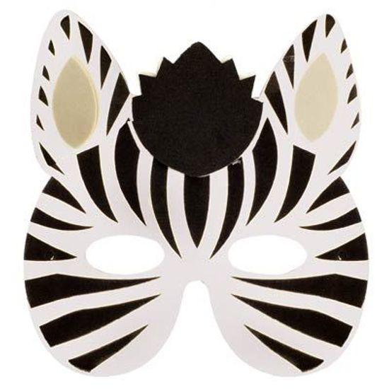 Festa Safari - Máscara Animais em E.V.A - Zebrinha FL - Máscara Animais em E.V.A - Zebrinha