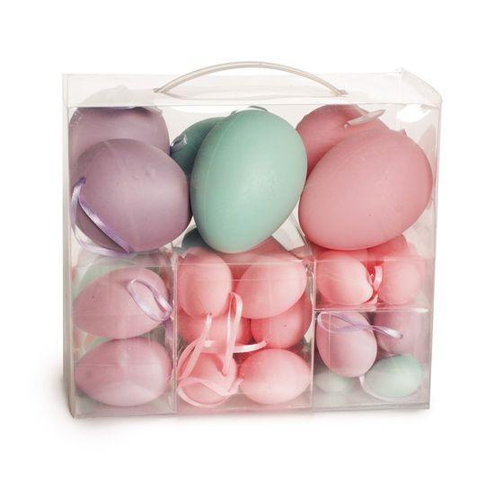 Cromus - Casadinho Maleta Ovos Azul, Lílas e Rosa - 1 Jogo com 48 Unidade