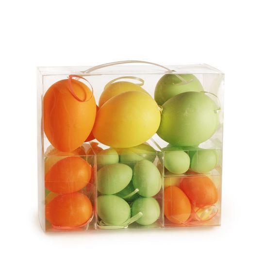 Cromus - Casadinho Maleta Ovos Amarelo, Verde e Laranja - 1 Jogo com 48 Unidade
