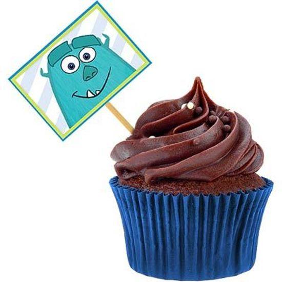 Lolipop para Cupcake Especial Universidade Monstros - 10 Un