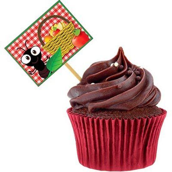 Festa Pic Nic - Lolipop para Cupcake Especial Pic Nic - 10 unidades Lolipop para Cupcake Especial Pic Nic - 10 unidades