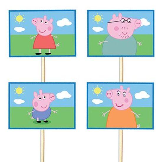 Festa Peppa Pig - Lolipop para Cupcake Especial Peppa Pig - 10 unidades Lolipop para Cupcake Especial Peppa Pig - 10 unidades