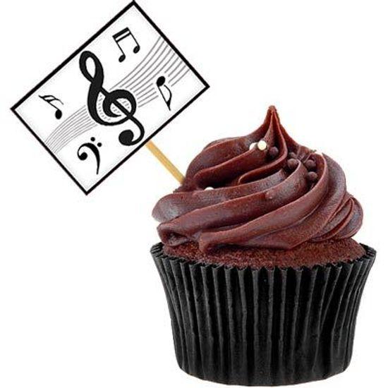 Lolipop para Cupcake Especial Notas Musicais - 10 unidades