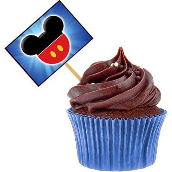 Lolipop para Cupcake Especial Mickey Mouse - 10 unidades