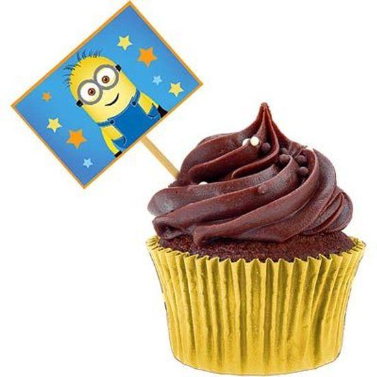 Festa Minions - Lolipop para Cupcake Especial Minions - 10 unidades FL - Lolipop para Cupcake Especial Minions - 10 unidades