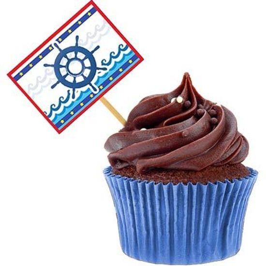 Lolipop para Cupcake Especial Marinheiro - 10 unidades