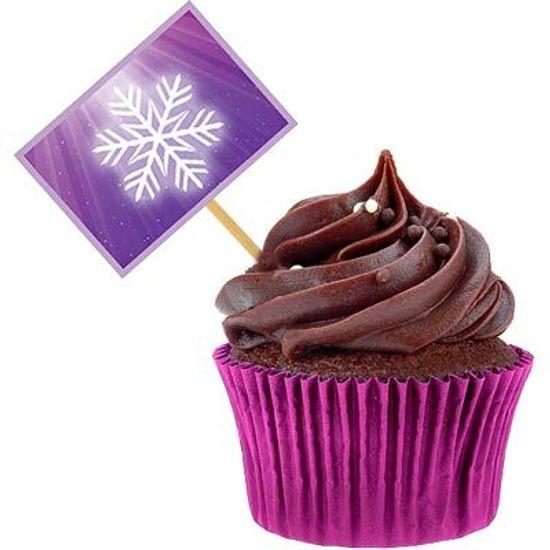 Festa Frozen Disney - Lolipop para Cupcake Especial Frozen - 10 unidades Lolipop para Cupcake Especial Frozen - 10 unidades