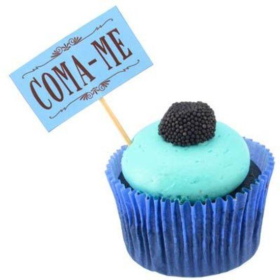 Lolipop para Cupcake Especial Coma-me Azul - 10 unidades