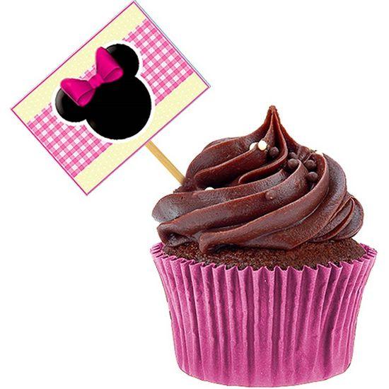 Lolipop para Cupcake Especial Baby Minnie - 10 unidades