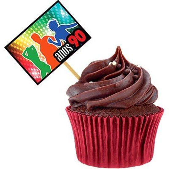 Lolipop para Cupcake Especial Anos 90 - 10 unidades