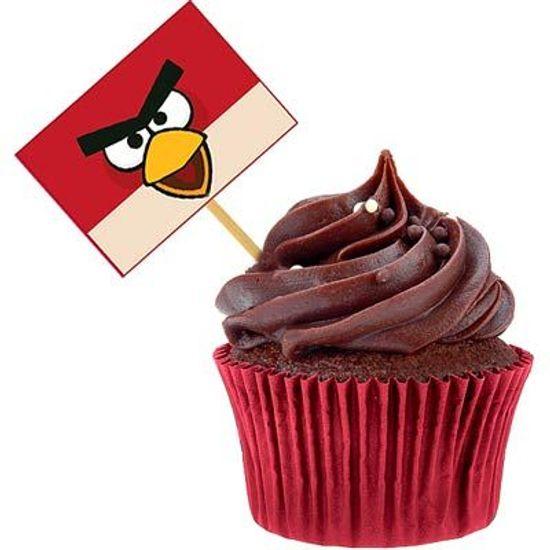 Lolipop para Cupcake Especial Angry Birds - 10 unidades