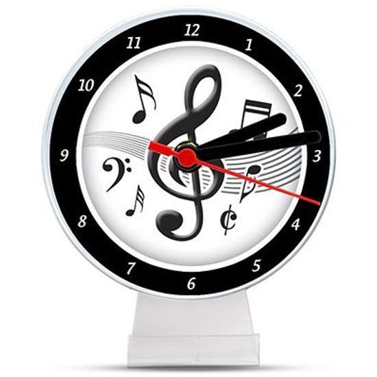 Lembrancinha/ Enfeite de Mesa Relógio Notas Musicais