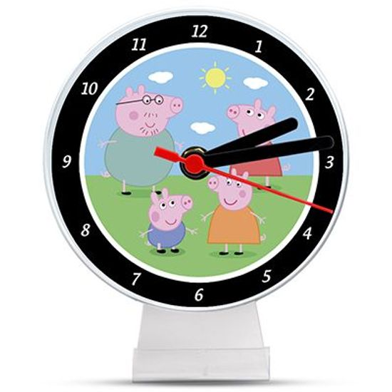 Lembrancinha/ Enfeite de Mesa Relógio Peppa Pig