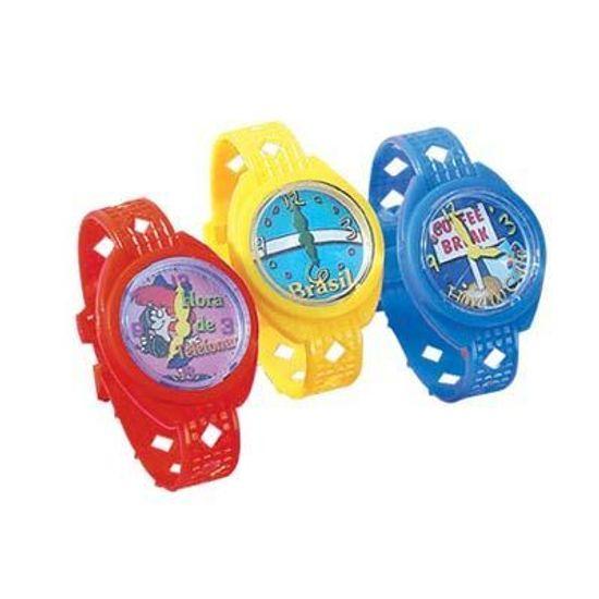 Lembrancinha Infantil - Relógio de Plástico 08 unidades