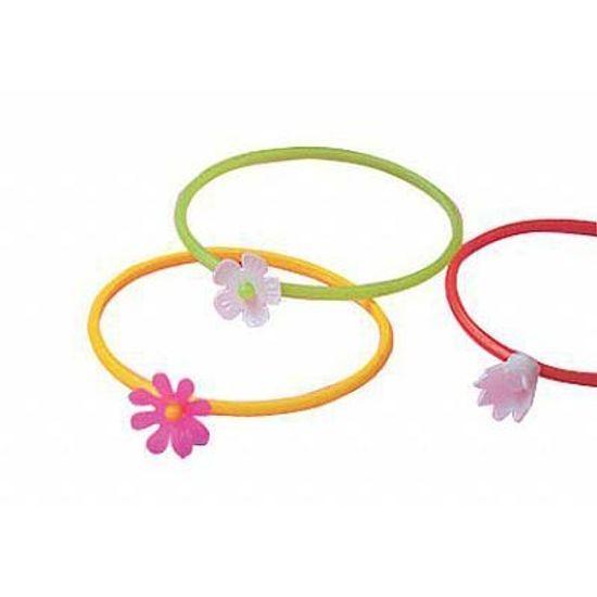 Lembrancinha Infantil - Pulseira Flor 25 unidades