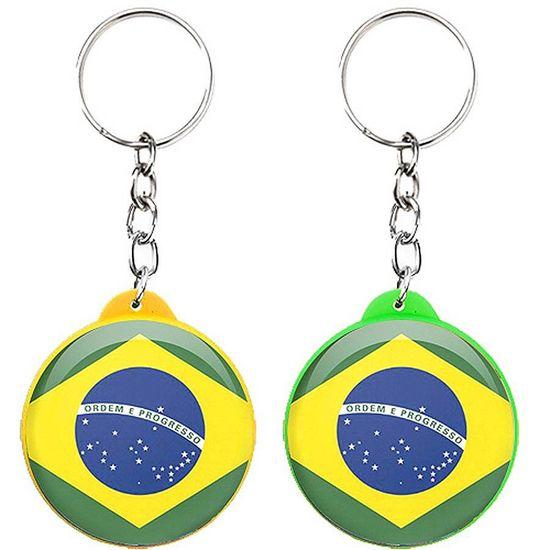 Chaveiro Plástico Especial Bandeira do Brasil