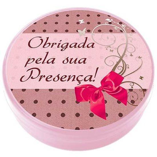 Latinha Plástica 5x1 Lembrancinha Rosa e Marrom Petit Poá