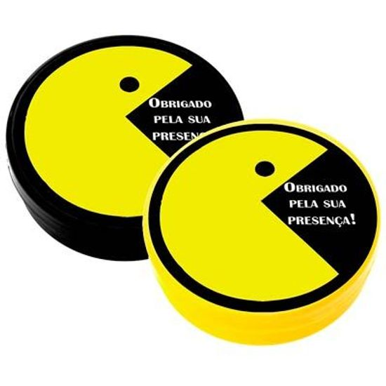 Latinha Plástica 5x1 Lembrancinha Pacman - Anos 80