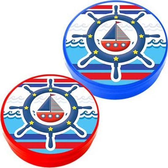Festa Marinheiro - Latinha Plástica 5x1 Lembrancinha Marinheiro Latinha Plástica 5x1 Lembrancinha Marinheiro