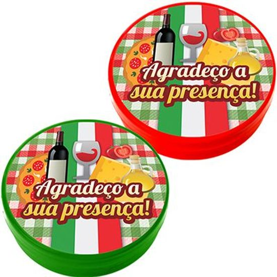 Latinha Plástica 5x1 Lembrancinha Festa Italiana