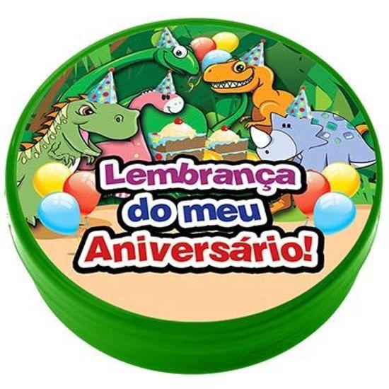 Festa Dinossauros - Latinha Plástica 5x1 Lembrancinha Dinossauros Latinha Plástica 5x1 Lembrancinha Dinossauros