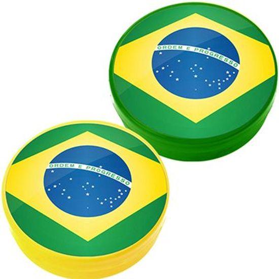 Latinha Plástica 5x1 Lembrancinha Bandeira do Brasil
