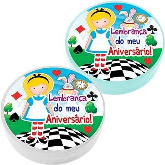 Festa Alice no País das Maravilhas - Latinha Plástica 5x1 Lembrancinha Alice Latinha Plástica 5x1 Lembrancinha Alice