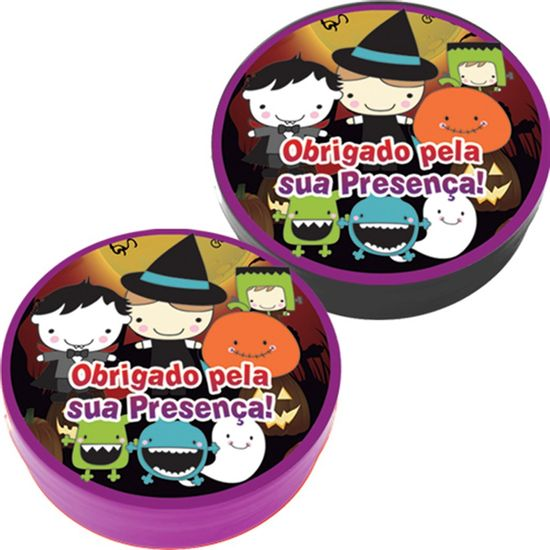 Latinha Plástica 5x1 Lembrancinha Halloween Kids