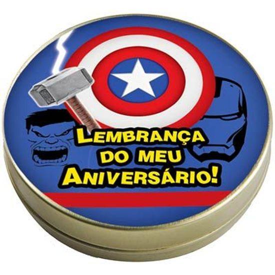 Festa Os Vingadores - Latinha 7x2 Lembrancinha Os Vingadores Latinha 7x2 Lembrancinha Os Vingadores